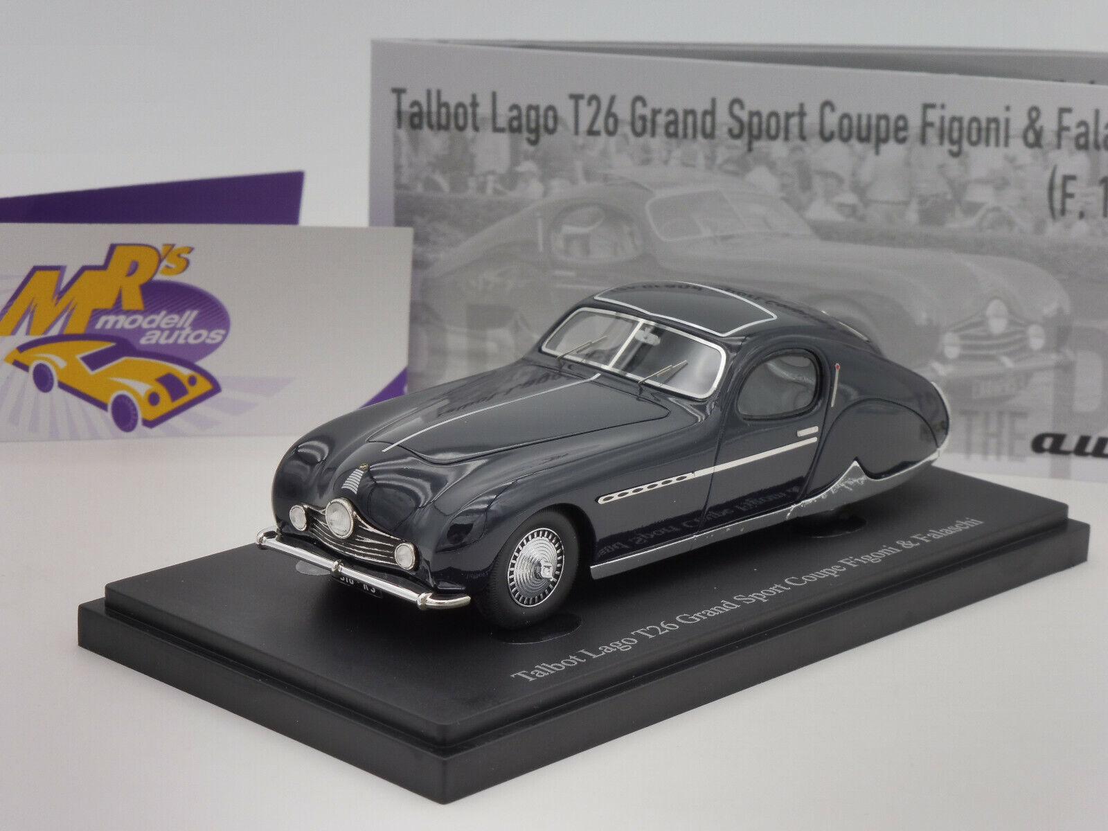 Autocult 02019 Talbot Lago T26 Grand Sport Coupe Year 1949  Dark bluee  1 43