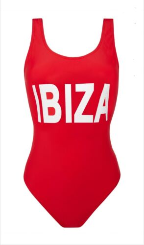 Ladies Primark IBIZA Red Body suit Swim wear Women/'s Beachwear Swimming Costume.