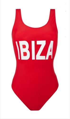 Donna Primark IBIZA Rosso Tuta Swim Wear donna Beachwear costume da bagno.