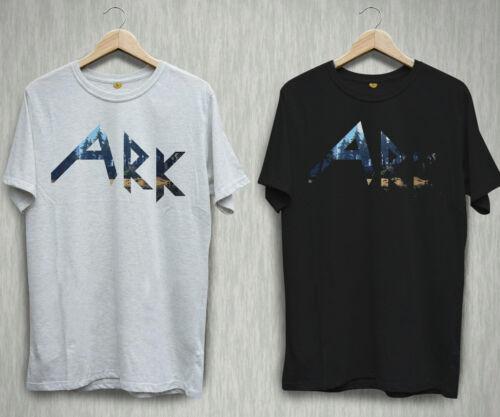 New Ark Survival Evolved Game Logo Black White T-shirt Shirts Tee XS-2XL