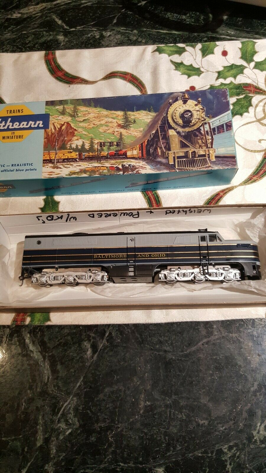 ATHEARN 3342 PB1 6 AXLE HO SCALE LOCOMOTIVE B&O POWErosso DIESEL WEIGHTED