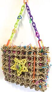 Birdtalk-Bird-Toys-Natural-Shred-and-Chew-Birdie-Bag-Parrot-Bird-Toy