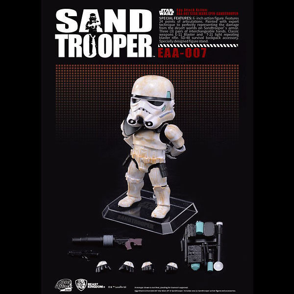 SANDTROOPER   Star Wars Episode IV Egg Attack figurine, 15 cm - BKT