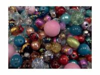 Half-pound Glass Bead Mix 4-18mm Assorted Colors And Shapes Bul... Free Shipping