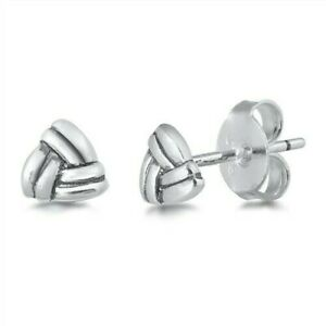 Stud-Earrings-Genuine-Sterling-Silver-925-Jewelry-Gift-Product-Height-5-mm