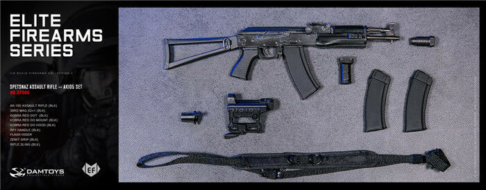 1 6 12  Model DAMTOYS FIREARMS EF006 SPETSNAZ ASSAULT RIFLE AK105 SET
