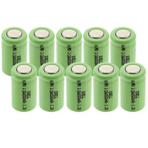 2x 1//3AA 1.2V Flat top Rechargeable Battery w//Tabs For LED Lights,Remote,Telecom