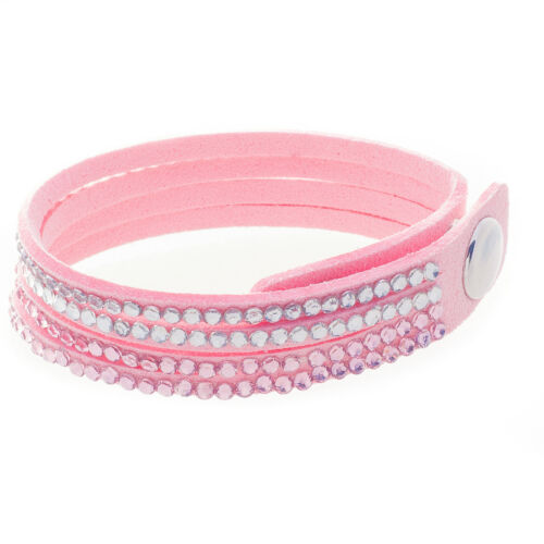 Kinder Slake Samt Armband mit Kristall Glitzer Strass von Bella Carina 15-17cm