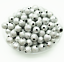 4mm 6mm 8mm 10mm Metallic Glitter Acrylic Stardust Round DIY Spacer Loose Beads