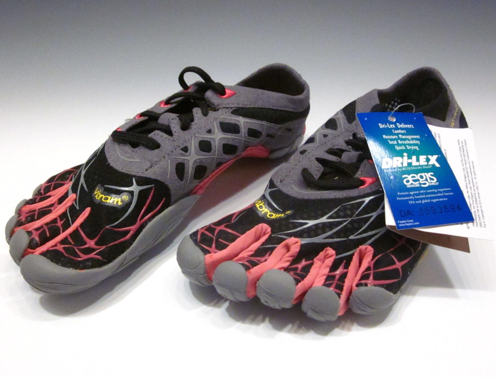 Vibram FiveFingers Seeya LS Running shoes NEW Black Grey pink Size 37