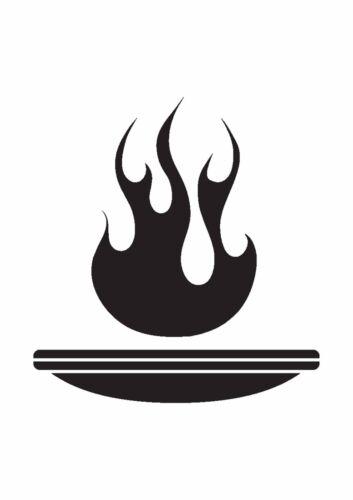 Tazón fuego Tatuaje Plantilla de estilo no de Mylar de 350 Micrones cosas delgada #TaT0031