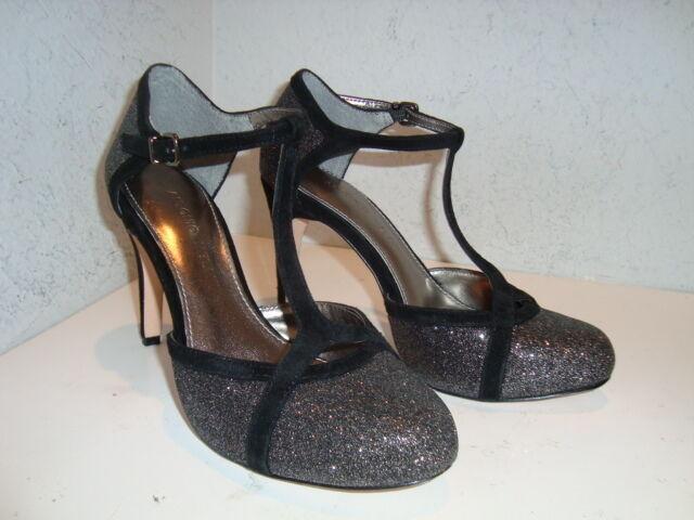 Antonio Melani Melani Melani damen Astrid NWOB Blk Glitter Sandals schuhe 6 Medium NEW f90ffa