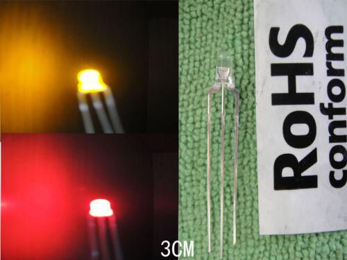 10,3mm Bi-Polar Red//Yellow Common cathode 3-pin Led 3v-12v free resistor,RY3L