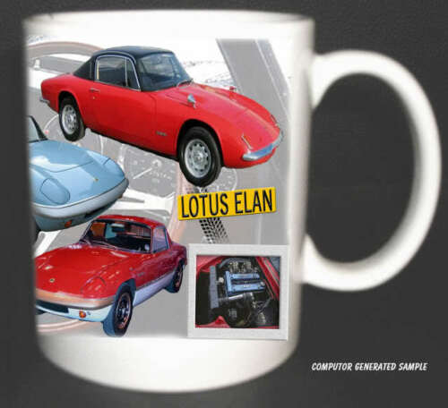 LOTUS ELAN CLASSIC CAR MUG LIMITED EDITION 1960/'S ELANS