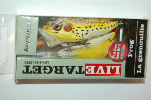 """koppers live target surface lure bass popper frog 2 1//2/"""" 1//4oz yellow black"""