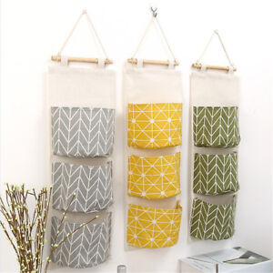 Image Is Loading 3 Grids Wall Hanging Storage Bag Organizer Toys