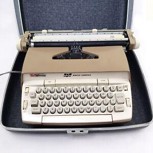 Smith Corona 200 Electric Electronic Typewriter Tweed Pattern Case