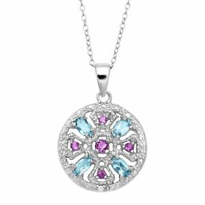 5-ct-Natural-Amethyst-amp-Blue-Topaz-Medallion-Pendant-with-Diamond-in-Silver