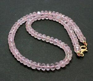 MORGANITA-Collar-Plata-925-Cadena-de-piedras-preciosas-morganitkette-ROSA-beryll