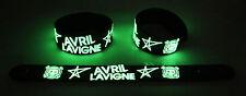 Avril Lavigne  Glow in the Dark Rubber Bracelet Wristband Wish You Were Here