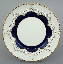 Meissen Teller, B-Form, kobaltblau und Gold, Durchmesser 19,5 cm, 1.Wahl #3/4