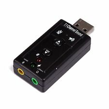 7 1 Channel USB Sound Card 3d Virtual Audio Adapter External Laptop Device  PC