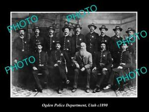 OLD-LARGE-HISTORIC-PHOTO-OF-OGDEN-UTAH-THE-POLICE-DEPARTMENT-c1890