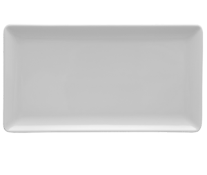 Servierplatte eckig 29 x 13 cm weiß Platte Vorlegeplatte Teller Gastro modern