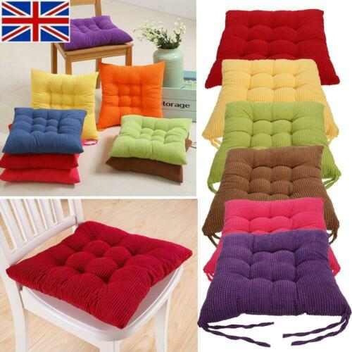 Comfy Chair Cushions Seat Pad Dining Room Garden Home Office Patio With Tie UK