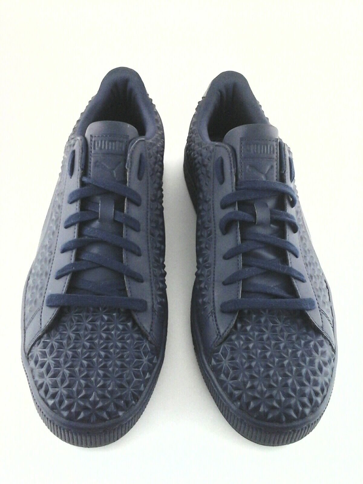PUMA BASKET Sneakers Diamond STUD EMBOSSED Blue Casual Shoes US 13 EU 47 $110 Scarpe classiche da uomo