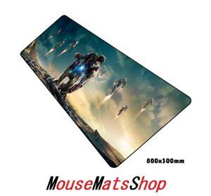 IRON-MAN-extra-large-Gaming-Mouse-Pad-Tappetino-Antiscivolo-Per-PC-Laptop-Ufficio-80x30cm