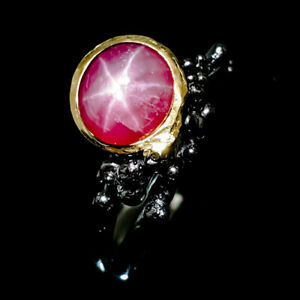 Luxury-lift-style-Natural-Star-Ruby-925-Sterling-Silver-Ring-Size-7-5-R83174