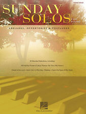 Sunday Solos for Piano Church Worship Sheet Music Hal Leonard Book NEW