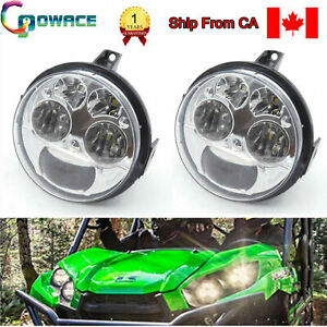 2PCS BRUTE FORCE 750 LED Headlight Hi/Lo Beam For Kawasaki Teryx Teryx 4