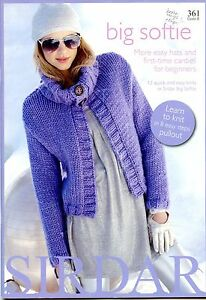 BIG-SOFTIE-Sirdar-Knitting-Pattern-Book-361-12-quick-amp-easy-knits-for-beginners