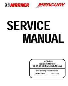mercury outboard motor 1995 2001 40 50 hp 4 stroke service manual rh ebay com Mercury 50 HP Elpto 50 HP Mercury Outboard Diagram