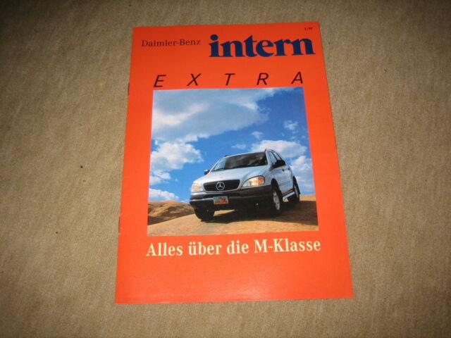 Mercedes M-Klasse W163 intern Extra Magazin Prospekt brochure von 3/1997