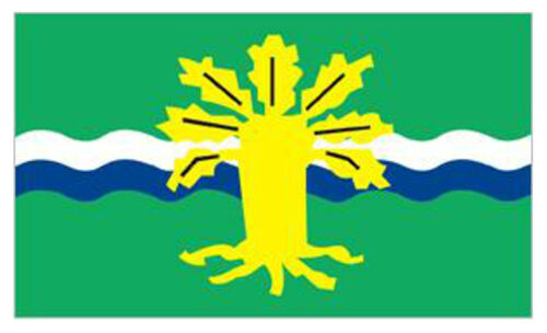 NOTTINGHAMSHIRE FLAG 5FT X 3FT With the Major Oak Insignia