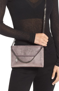 New Stella McCartney Mini Falabella Wallet on Chain Crossbody Bag Blush Pink NWT
