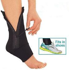 Zip-Up Compression Zipper Leg Support Brace Sprain Sleeve Protective Ankle Brace