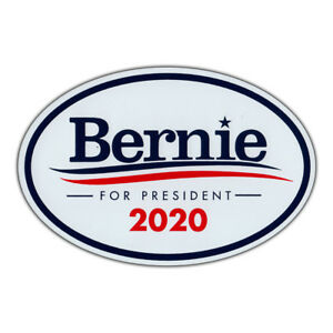 Oval-Magnet-Bernie-Sanders-For-President-2020-Magnetic-Bumper-Sticker