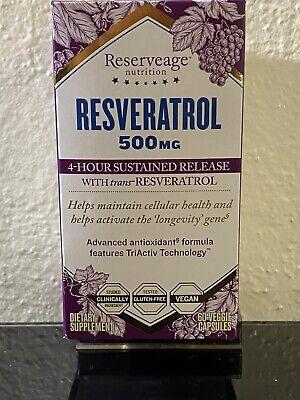 Reserveage Nutrition Resveratrol 500mg 60 Capsules Ebay