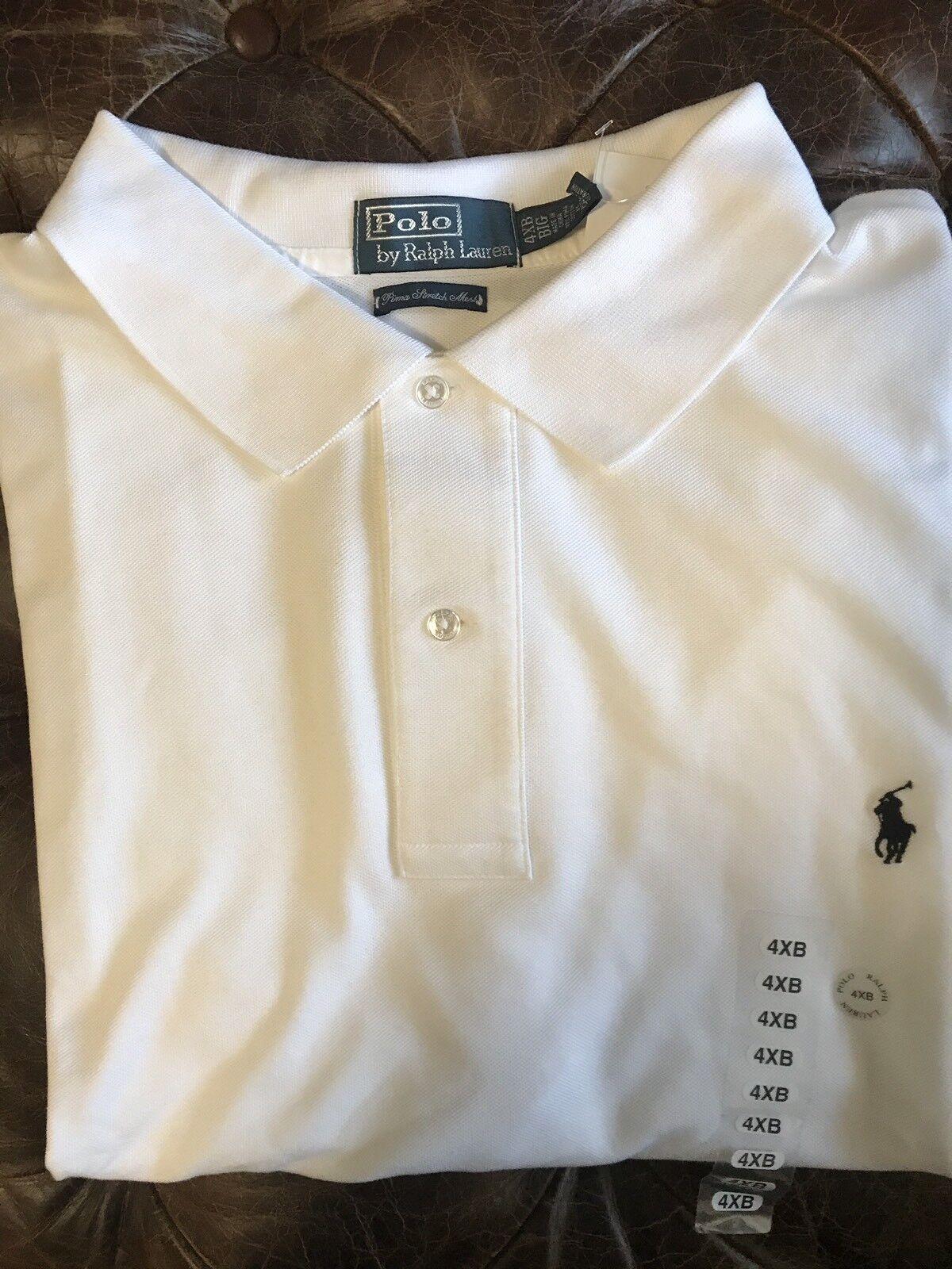 New Polo Ralph Lauren Men Small Pony Weiß Shirt 4XB 4XBIG