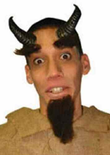 Satyr Horns Goat Ram Animal Dress Up Halloween Costume Makeup Latex Prosthetic