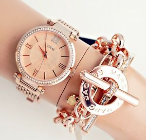 a55b219d33fb Guess Watch Women s Watch W0638l4 Soho Stainless Steel Rose Gold New ...