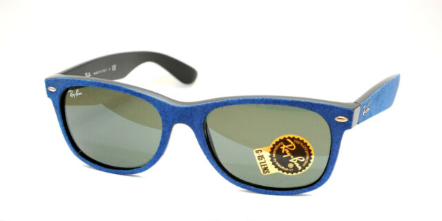 92524b49f45 Sunglasses Ray-Ban Wayfarer Rb2132 6239 55 Blue Alcantara for sale ...