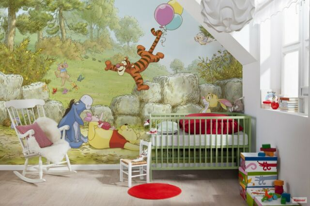 Giant Wall Mural Wallpaper Winnie The Pooh Disney Chlildrens Room Decor Nursery