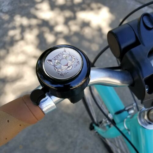 Spotted Snow Leopard Face Bicycle Handlebar Bike Bell