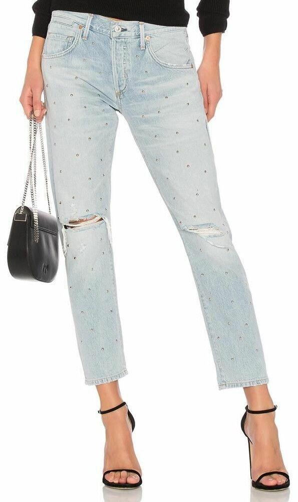 Citizens of Humanity Premium Vintage Emerson slim rivets Boyfriend Jeans 30 NOUVEAU