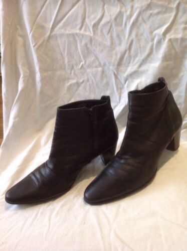 Size Ankle 39 Ladies Leather Boots Black xITw00Zq4